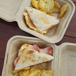 Georgia peach sandwich at Pimento Cheese Kitchen