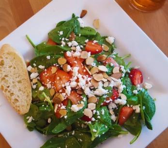 Strawberry Spinach Salad at Bleu Door