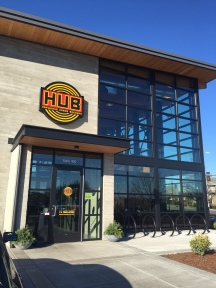 The entrance to HUB