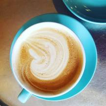 Blue Spruce Latte at Pines Coffee